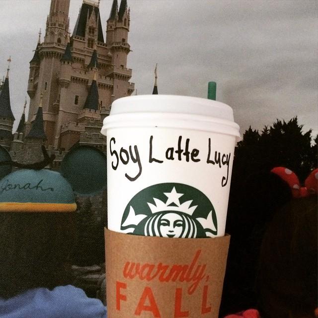 Love my kids, Disney & soy latte!