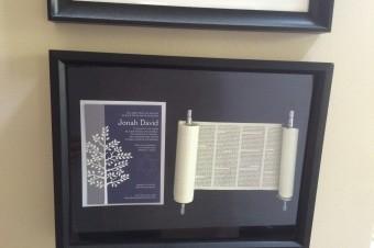 DIY Bar Mitzvah Torah Keepsake