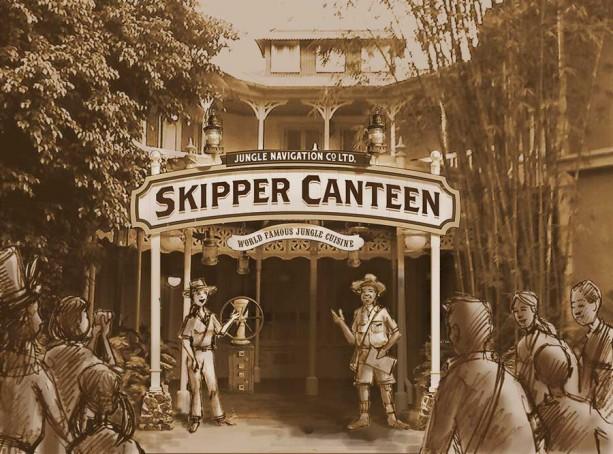 Artist's Rendition of Skipper Canteen - Skipper Canteen Disney World Gluten Free Dining Review